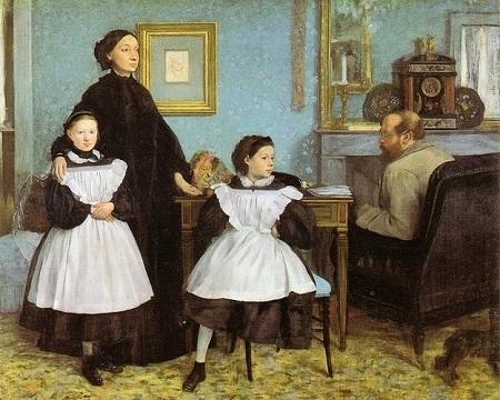 """Danh họa người Pháp Edgar Degas và bức """"Gia đình Bellelli"""" (1858)"""