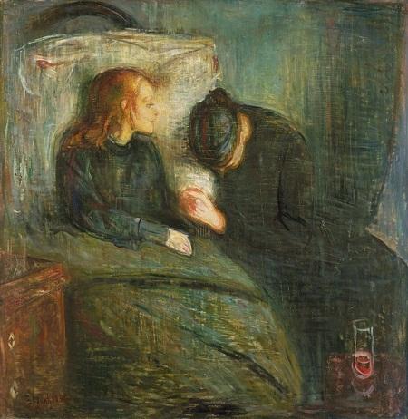 """Danh họa người Na Uy Edvard Munch và bức """"Đức trẻ ốm"""" (1885)"""