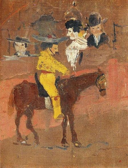 """Danh họa người Tây Ban Nha Pablo Picasso và bức """"Kỵ mã đấu bò"""" (1890)"""