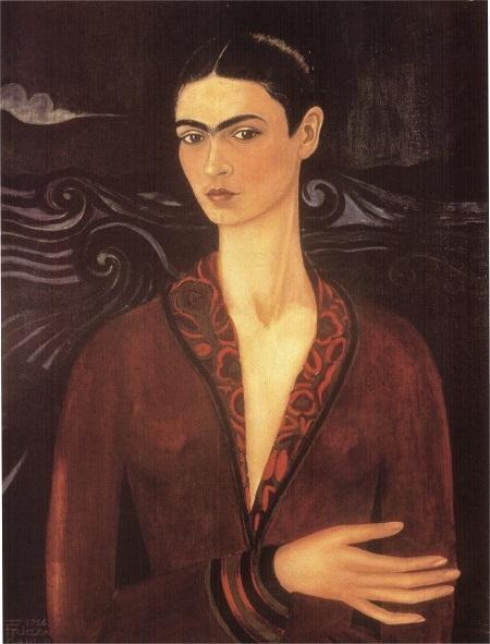 """Nữ danh họa người Mexico - Frida Kahlo và bức """"Tự họa trong chiếc váy nhung"""" (1926)"""