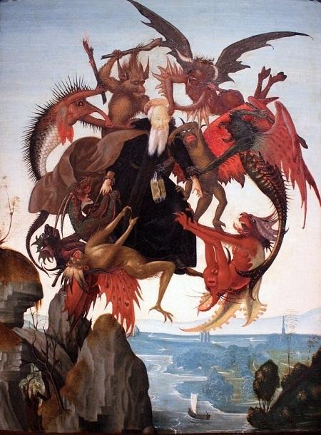 """Danh họa người Ý Michelangelo và bức """"Sự đau khổ của Thánh Anthony"""" (1487)"""
