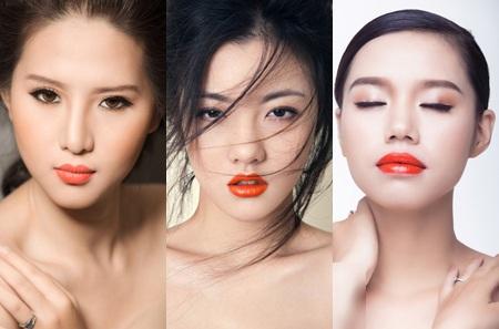 """Trong nghiên cứu, màu cam đậm được coi là màu son """"hot"""" nhất đối với phụ nữ Hà Nội."""