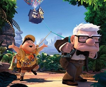Ông cụ Carl và cậu bạn nhỏ Russell cùng đặt chân tới thác Thiên đường.
