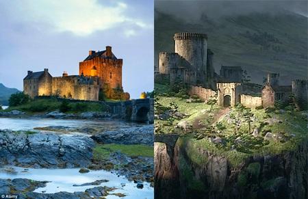 """Lâu đài Eilean Donan của Scotland đã giúp sáng tạo nên lâu đài trong """"Công chúa tóc xù""""."""