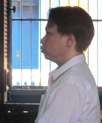 Bị cáo Minh tại tòa phúc thẩm