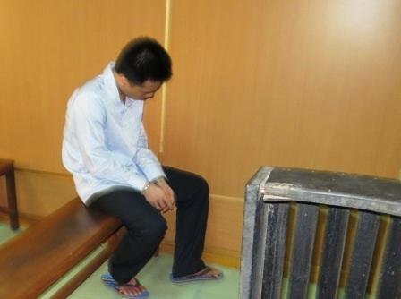 Bị cáo Tuấn tại toà sơ thẩm TAND TPHCM