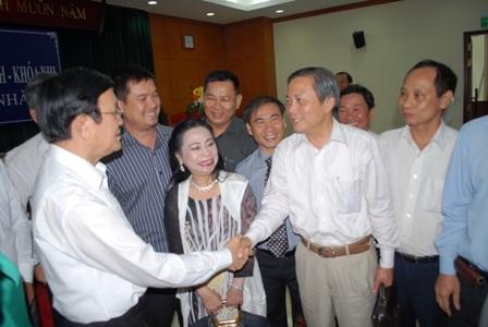 Chủ tịch nước Trương Tấn Sang tiếp lửa cho các doanh nhân