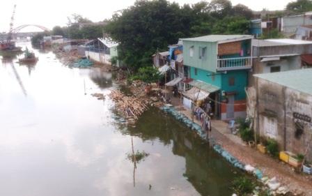 Dự án chống sạt lở kênh Thanh Đa ì ạch về đích