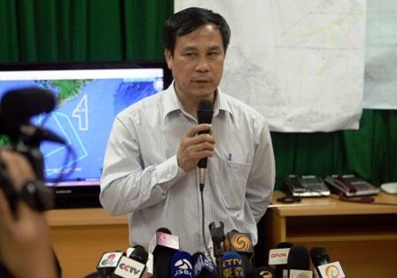 Ông Đoàn Hữu Gia, chỉ huy trưởng Sở chỉ huy tiền phương tại Phú Quốc trả lời báo chí