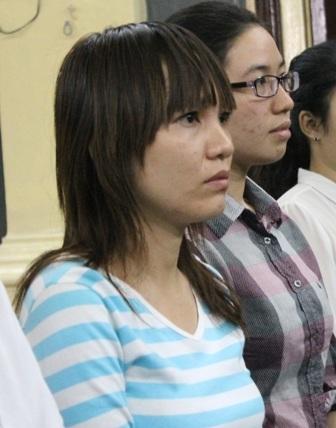 Chị Thúy tại phiên tòa sơ thẩm