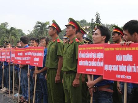 Buổi lễ có sự tham gia của hơn 4.000 thanh niên, đoàn viên