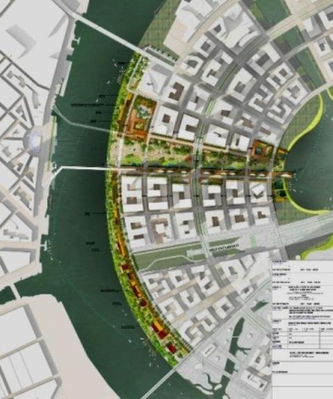 Vị trí Quảng trường trong tổng thể quy hoạch Khu đô thị mới Thủ Thiêm