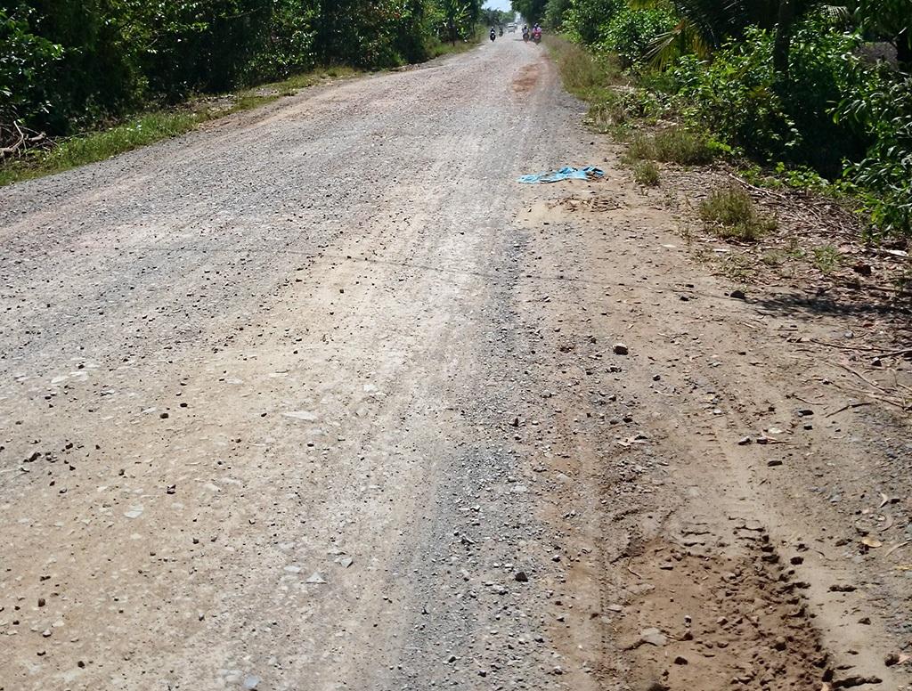 Đoạn đường nơi Chính bị cáo buộc đã đâm gục chị Hương