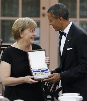 Thủ tướng Đức làm thượng khách tại Nhà Trắng  - 6