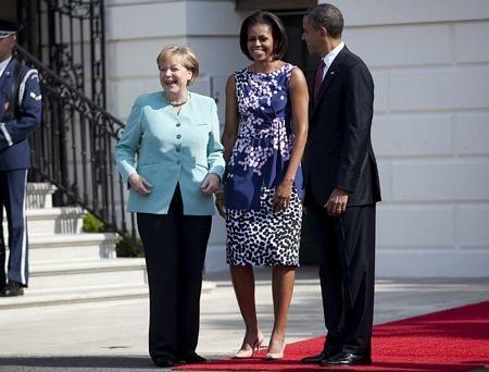 Thủ tướng Đức làm thượng khách tại Nhà Trắng  - 15