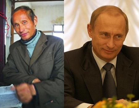Phát hiện người đàn ông Trung Quốc trông giống Putin - 1