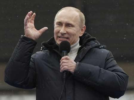 Putin dự báo chiến thắng trong cuộc đua sắp tới - 1