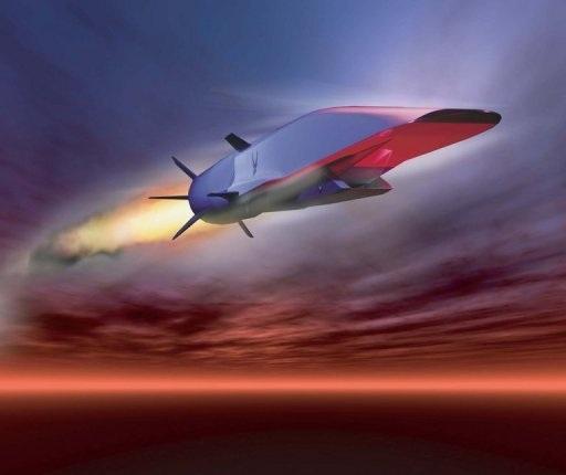 Đồ hoạ mô phỏng một chiếc máy bay siêu thanh X-51A Waverider.