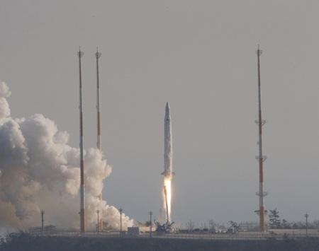 Tên lửa Naro được phóng đi hôm 30/1
