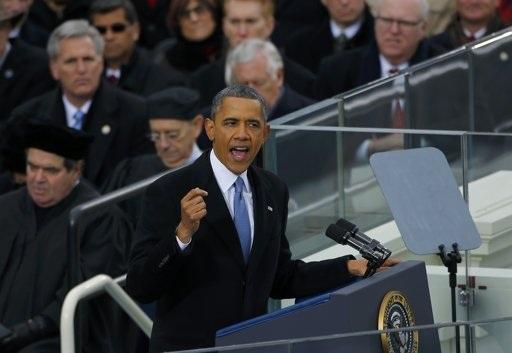 Ông Obama đọc diễn văn sau khi tuyên thệ.