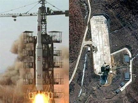 Bãi thử nghiệm hạt nhân ngầm ở Puggye-ri, phía Đông Bắc Triều Tiên.