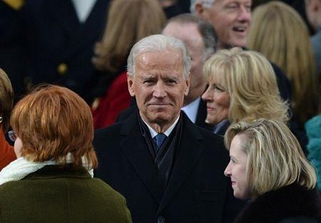 Ông Obama và phu nhân Jill tại lễ nhậm chức.