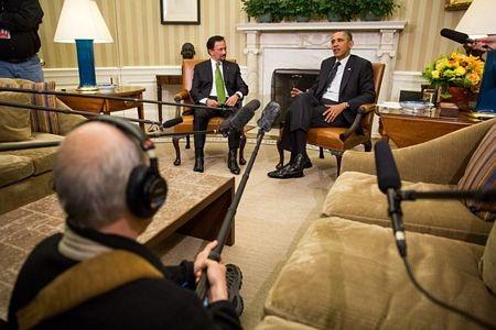 Tổng thống Obama và Quốc vương Hassanal Bolkiah tại Nhà Trắng ngày 12/3.