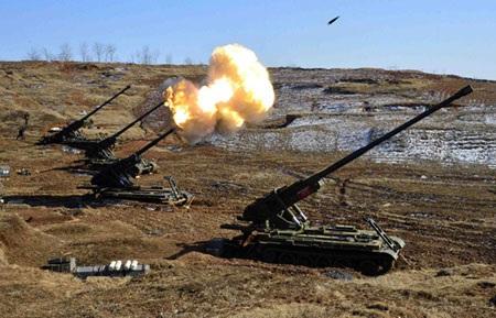Một cuộc diễn tập quân sự của Triều Tiên. (Ảnh minh họa)