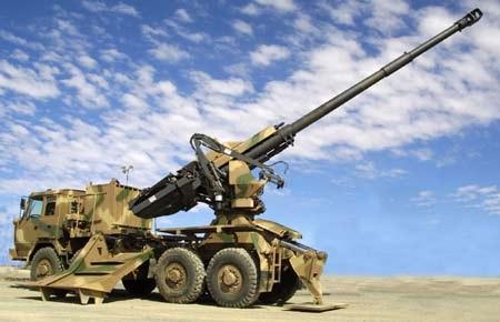 Pháo 155mm/52 do công ty Tata Power SED của Ấn Độ chế tạo.