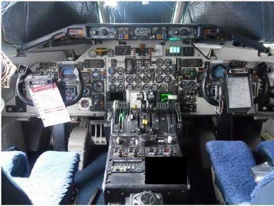 Buồng lái của máy bay.