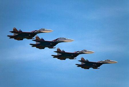 Phi đội baynhào lộn Russian Knights của Nga biểu diễn trong một sự kiện hồi tháng này.