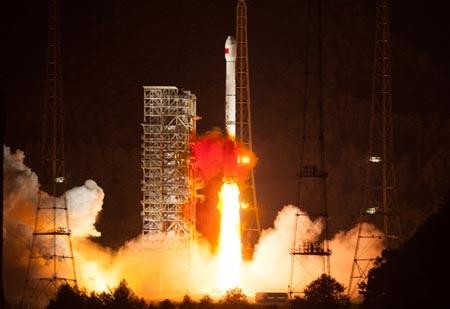 Một vụ phóng vệ tinh của Trung Quốc từ trung tâm phóng vệ tinh Tây Xương ở tỉnh Tứ Xuyên