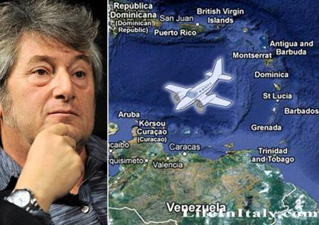 Chiếc máy bay chở ông Missoni và 5 người khác mất tích từ tháng 1.