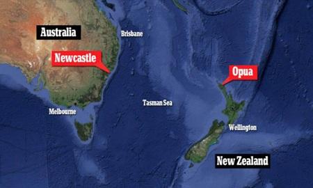 Du thuyền khởi hành từ Opua đi Newcastle.