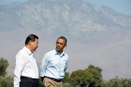 Ông Obama và ông Tập Cận Bình gặp nhau tại California hôm 8/6.