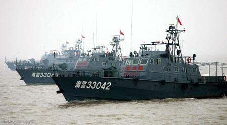Các tàu tuần tra của cảnh sát biển Trung Quốc. Ảnh: Cqzg.