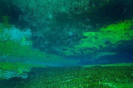 Nước hồ trong tới mức có thể nhìn thấu tận đáy.