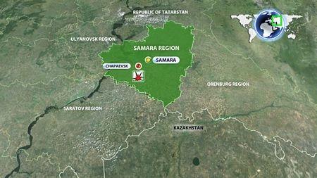 Vụ nổ xảy ra tại kho đạn ở vùng Samara, miền trung nước Nga.