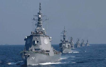 Hạm đội tàu chiến hùng hậu của Nhật Bản thuộc loại mạnh nhất châu Á.