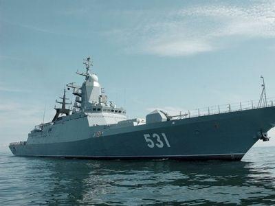 Chiến hạm dự án 20380 trên biển.