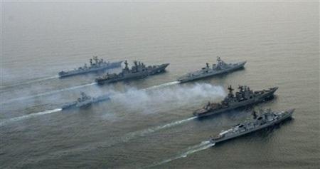 Các tàu chiến của Nga tham gia một cuộc tập trận. (Ảnh minh họa)