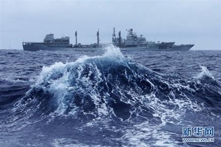 Chiến hạm Trung Quốc bắt đầu vươn ra Thái Bình Dương, thách thức vị thế thống trị của Mỹ lâu nay.