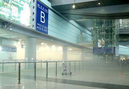 Nhà ga số 3 đã bị sơ tán sau vụ nổ.