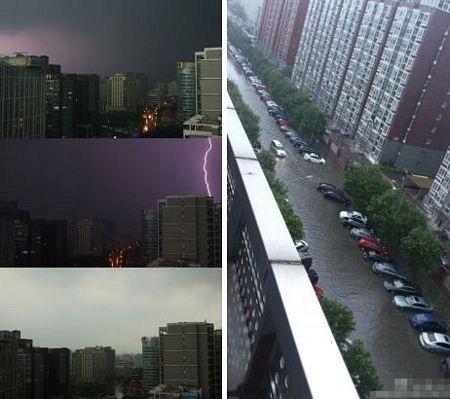 Mưa lớn gây ngập lụt tại Bắc Kinh ngày 11/8.