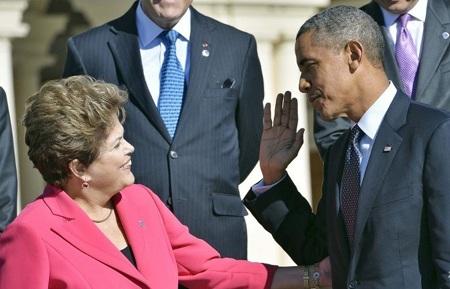 Lãnh đạo Mỹ, Brazil gặp nhau bên lề G20 ở Nga hồi đầu tháng 9.
