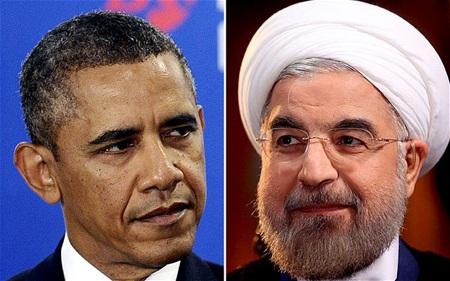 Tổng thống Mỹ Barack Obama và người đồng cấp Iran Hassan Rouhani.