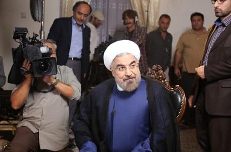 Tân Tổng thống Iran Hassan Rouhani trong cuộc phỏng vấn của đài NBC ngày 18/9.