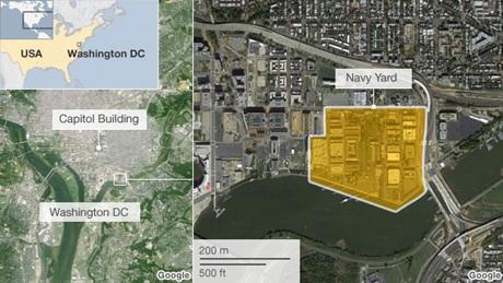 Căn cứ Navy Yark nằm ở đông nam thủ đô Washington D.C.