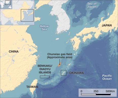 Quần đảo Senkaku/Điếu Ngư ở Hoa Đông.