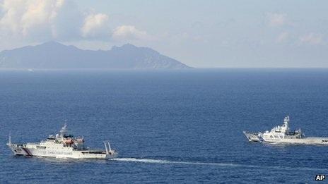 Tàu Trung Quốc và Nhật Bản gườm nhau gần Senkaku/Điếu Ngư hôm 10/9.
